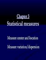 Bài giảng nguyên lý thông kê chương 3 numerical measures part b student