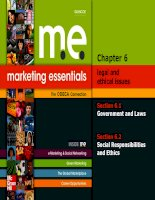 Marketing Essentials  Chapter 6  Legal and Ethical Issues