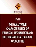 BÀI GIẢNG kế TOÁN QUỐC tế chapter 3   accounting conventions