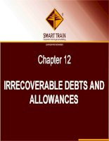 BÀI GIẢNG kế TOÁN QUỐC tế chapter 12   irrecoverable debts and allowances