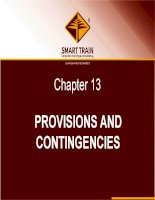 BÀI GIẢNG kế TOÁN QUỐC tế chapter 13   provisions and contingencies