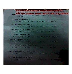 De thi chinh thuc JLPT n3 122016 chu han