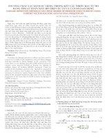 PHƯƠNG PHÁP XÁC ĐỊNH HƯ HỎNG TRONG KẾT CẤU NHIỀU BẬC TỰ DO BẰNG THUẬT TOÁN MÁY HỖ TRỢ VÉC TƠ VÀ TẦN SỐ DAO ĐỘNG_TS. Hồ Thu Hiền, TS. Nguyễn Danh Thắng