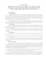 HƯỚNG DẪN TỔ CHỨC GIÁO DỤC VĂN HÓA TRUYỀN THỐNG CỦA CÁC DÂN TỘC THIỂU SỐ CHO HỌC SINH TRUNG HỌC TRÊN DDIAHJ BÀN TỈNH HÀ GIANG