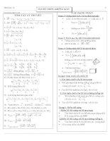 tổng hợp kiến thức toán học lớp 12