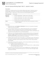FCE for schools writing part 2