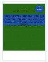 109 bài tập trắc nghiệm phương trình đường thẳng nâng cao