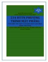 234 bài tập trắc nghiệm phương trình mặt phẳng cơ bản