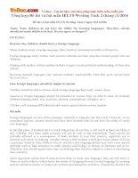 Tổng hợp Đề thi và bài mẫu IELTS Writing Task 2 tháng 11/2016