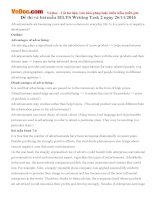 Đề thi và bài mẫu IELTS Writing Task 2 ngày 26/11/2016
