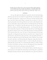 Tiểu Luận: TT HCM: NGHỆ THUẬT PHÁT HUY SỨC MẠNH TỔNG HỢP TRONG  TƯ TƯỞNG QUÂN SỰ HỒ CHÍ MINH, Ý NGHĨA ĐỐI VỚI CHIẾN TRANH NHÂN DÂN BẢO VỆ TỔ QUỐC HIỆN NAY