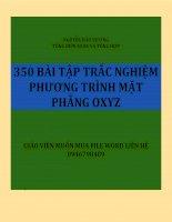 350 BAI TAP TRAC NGHIEM PHUONG TRINH MAT PHANG TRONG KHONG GIAN OXYZ