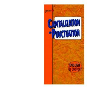 capitalization and punctuation saddleback educational publishing