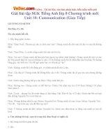 Giải bài tập SGK Tiếng Anh lớp 8 Chương trình mới Unit 10: Communication (Giao Tiếp)