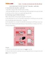 Giải bài tập trang 53, 54 SGK Vật lý lớp 7: Dòng điện - nguồn điện