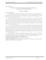 Sáng Kiến Kinh Nghiệm Ứng Dụng Phương Pháp Dạy Học Tích Cực Vào Dạy Học Sinh Học 10