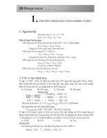 10 PHƯƠNG PHÁP GIẢI NHANH  23 TRỌNG điểm hóa hữu cơ TRONG đề THI TRẮC NGHIỆM hóa học