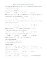 bài tập trắc nghiệm khảo sát hàm số có đáp án