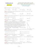 Đề thi thử THPT 2017 môn toán trường THPT Lương Thế Vinh Hà Nội lần 1 có lời giải và định dạng mcmix
