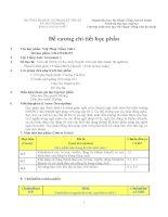Đề cương chi tiết học phần Ngữ pháp tiếng anh 1 (Trường đại học sư phạm kĩ thuật TP.HCM)