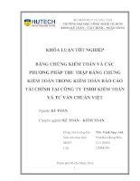 Bằng chứng kế toán và các phương pháp thu thập bằng chứng kiểm toán trong kiểm toán báo cáo tài chính tại công ty TNHH kiểm toán và tư vấn chuẩn việt