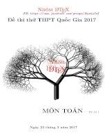 Tuyển tập đề thi thử THPT QG ( có đáp án )