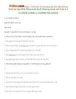 Giải bài tập SGK Tiếng Anh lớp 8 Chương trình mới Unit 4 A CLOSER LOOK 2, COMMUNICATION