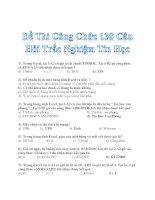 Đề Thi Công Chức 138 Câu Hỏi Trắc Nghiệm Tin Học (Có đáp án)