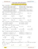 Tuyển tập 235 bài tập trắc nghiệm số phức có lời giải chi tiết