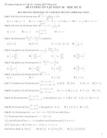 Đề cương ôn tập học kỳ 2 toán 10 trường THPT đông anh   hà nội