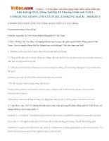 Giải bài tập SGK Tiếng Anh lớp 10 Chương trình mới Unit 6: COMMUNICATION AND CULTURE, LOOKING BACK  PROJECT