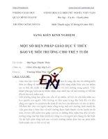 Skkn MỘT SỐ BIỆN PHÁP GIÁO DỤC Ý THỨC BẢO VỆ MÔI TRƯỜNG CHO TRẺ 5 TUỔI