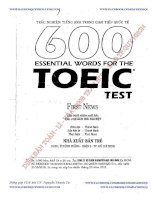 Ebook 600 essential words for the TOEIC Test Phần 1