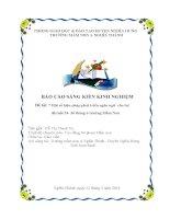 Skkn Một số biện pháp phát triển ngôn ngữ cho trẻ 24-36 tháng trong trường mầm non