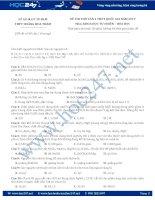Đề thi thử THPTQG môn hoá THPT Hoàng Hoa Thám, TP.HCM năm 2017 có đáp án