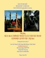 Thời Bắc Thuộc Và Các Cuộc Đấu Tranh Giành Độc Lập Dân Tộc ( Tiếp Theo)
