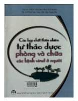 Ebook Các hợp chất thiên nhiên từ thảo dược phòng và chữa các bệnh virut ở người Phần 1