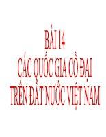Bài Giảng Các Quốc Gia Cổ Đại Trên Đất Nước Việt Nam