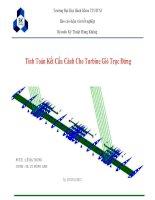 Kết cấu Turbine gió trục đứng VAWT structure ppsx
