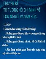 Chuyên Đề Tư Tưởng Hồ Chí Minh Về Con Người Và Văn Hóa
