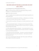 BỘ TỔNG HỢP ĐỀ WRITING  OUTLINE CHI TIẾT (Tự Học IELTS Writing 7.0)