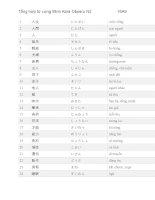 Từ vựng N2 Mimikara bản dịch chuẩn tiếng việt