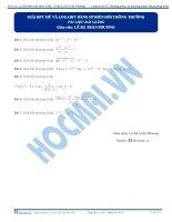 Bài 19 bài giảng chi tiết giai bpt mũ logarit bằng pp bien doi thong thuong