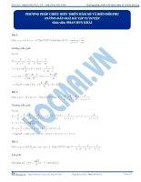 Bài 12 hướng dẫn giải bài tập tự luyện PP chieu bt hàm so va bien doi phu