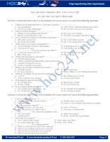 Bài tập trắc nghiệm chức năng giao tiếp ôn thi THPT QG 2017 môn Tiếng Anh