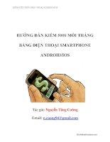 Hướng dẫn từ A đến Z cách kiếm 500 USD mỗi tháng bằng điện thoại smartphone android  ios