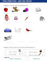 từ vựng , bài tập , ngữ pháp tiếng anh lớp 2 , lớp 3