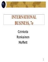 International business 7e czinkota moffett ch01