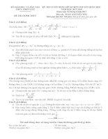 Đề thi tuyển sinh lớp 10 môn toán chuyên tin thừa thiên huế năm học 2017   2018(có đáp án)