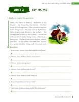 Bài tập đọc hiểu tiếng anh 6 thí điểm Unit 2